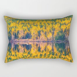 Lake Reflections in the Fall Rectangular Pillow