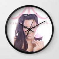 kardashian Wall Clocks featuring Kim Kardashian by Mark Gibson design