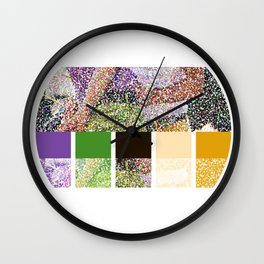 Color You Into My Life Wall Clock