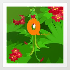 q for quetzal Art Print