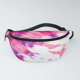 Modern Artsy Abstract Neon Pink Purple Tie Dye Fanny Pack