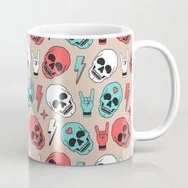 Skull - Beige Coffee Mug