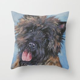 Beautiful Cairn Terrier from an original painting by L.A.Shepard Throw Pillow