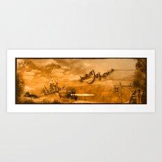 Journey of Australia Art Print