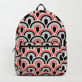 Rainbow Connection: Small: Black, Coral, Grey Backpack