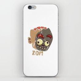 Cute Zombae Zombie Graphic Halloween  iPhone Skin