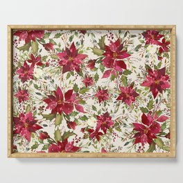 POINSETTIA - FLOWER OF THE HOLY NIGHT Serving Tray