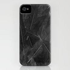 Feathered (Black). iPhone (4, 4s) Slim Case