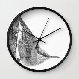 Friendly Nuthatch Wall Clock