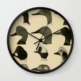 Vintage Duck Heads Wall Clock