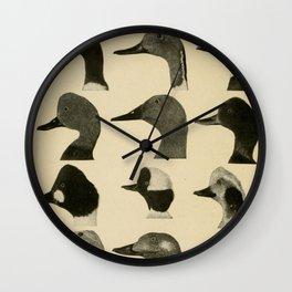 Vintage Duck Heads Wall Clock
