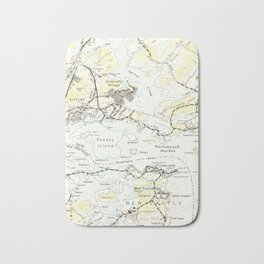 Vintage Map of Kittery Maine (1944) Bath Mat