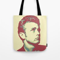james franco Tote Bags featuring James by victorygarlic - Niki