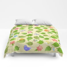 birds&leaves Comforters