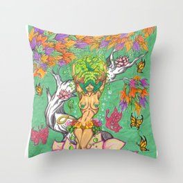 the birth of taurus Throw Pillow