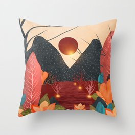 Mystery Garden IV Throw Pillow