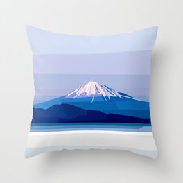 Geometric Mount Fuji, Tokyo, Japan Throw Pillow