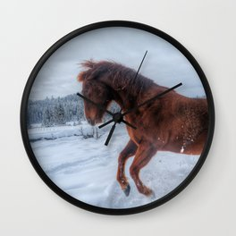 Fire and Ice - Equine Photography Wall Clock