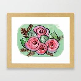 Roses for my Valentine Framed Art Print