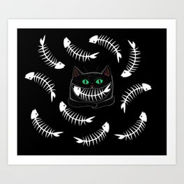 Fish Eating Grin Art Print