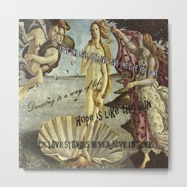The birth of quotations Metal Print