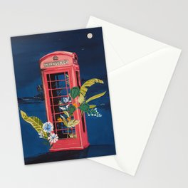 Night Phone Booth Stationery Cards