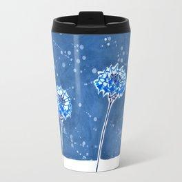 Winter's Flowers Travel Mug