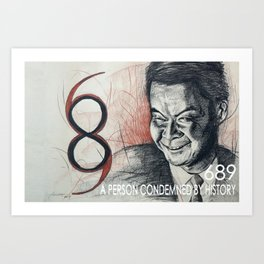 689  a person condemned by history Art Print