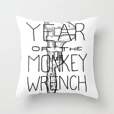 Year of the Monkey Wrench Throw Pillow