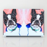 boston terrier iPad Cases featuring Boston Terrier by A.M.