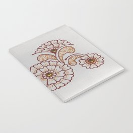 Red and Gold Flower Notebook