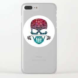 SKULL FLORAL ORNAMENTS I Clear iPhone Case