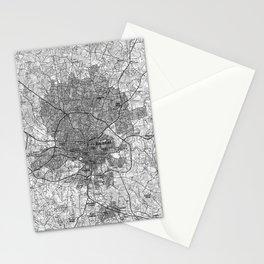 Raleigh North Carolina Map (1990) BW Stationery Cards