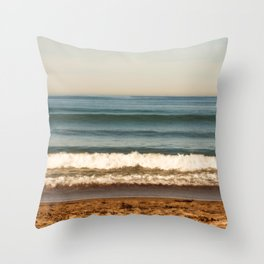 Beach photograph. Layer Cake Throw Pillow