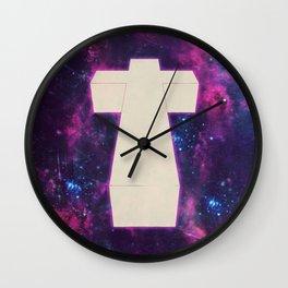 hipster nebula cross Wall Clock
