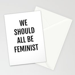 We Should All Be Feminist Stationery Cards
