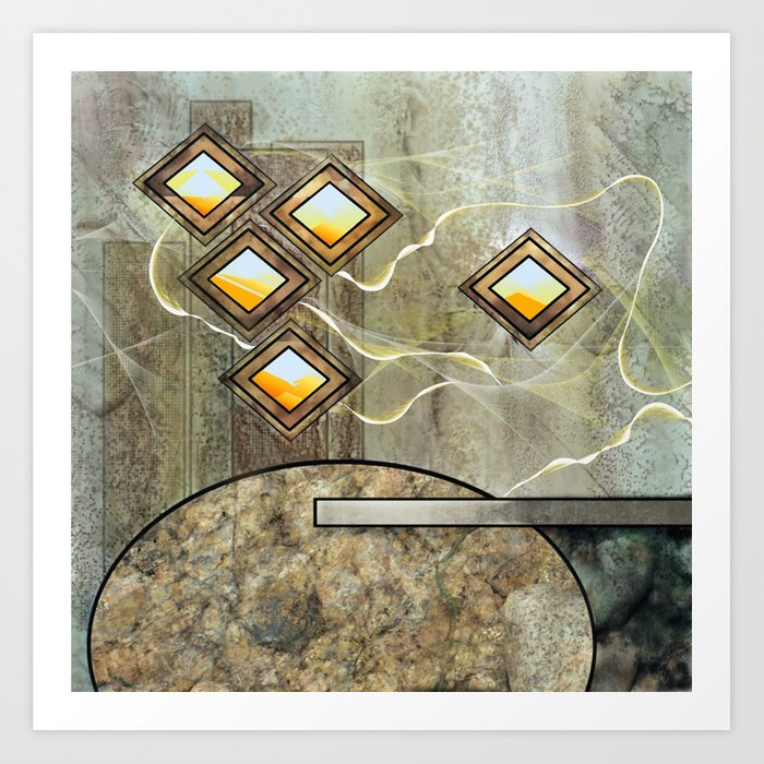 The Foundation Abstract Rock Formation Art Print