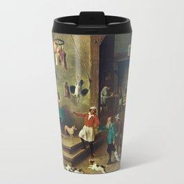 The Kitchen by David Teniers the Younger Travel Mug