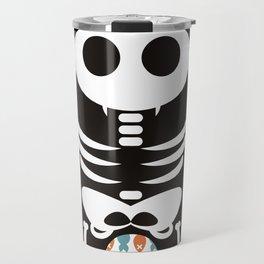 Meow Skeleton Travel Mug