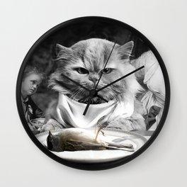 Diner Cat Wall Clock