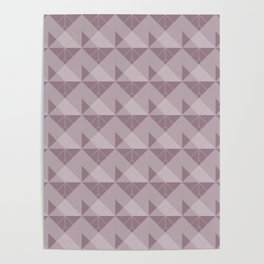 Simple Geometric Pattern 1 in Musk Mauve Poster