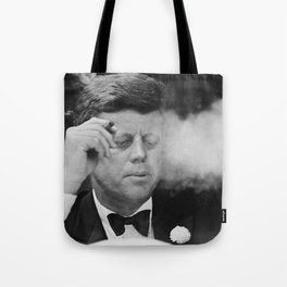 John F Kennedy Smoking Tote Bag