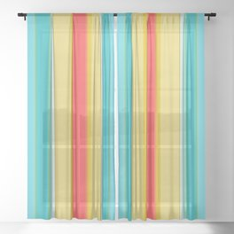 sandcastle deckchair stripe Sheer Curtain