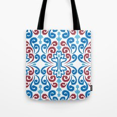 Chinoiserie Damask Tote Bag