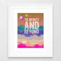 buzz lightyear Framed Art Prints featuring to infinity and beyond.. toy story.. buzz lightyear by studiomarshallarts