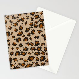 Pixelated Leopard Stationery Cards