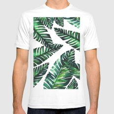 Live tropical II Mens Fitted Tee MEDIUM White