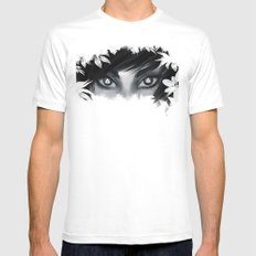 Triforce Stare MEDIUM Mens Fitted Tee White