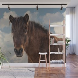Icelandic Horse in the Sky Wall Mural