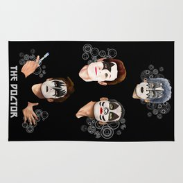 The Doctor who face painting iPhone 4 4s 5 5c 6 7, pillow case, mugs and tshirt Rug
